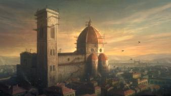 Assassins creed 2 florence italy artwork cityscapes wallpaper