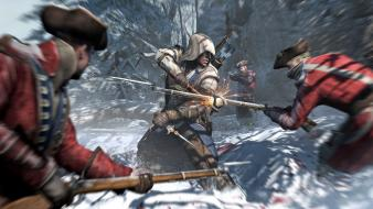 Assassins creed 3 connor kenway fight video games Wallpaper