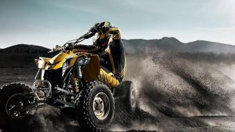 Atv driving extreme sports fantasy art offroad wallpaper