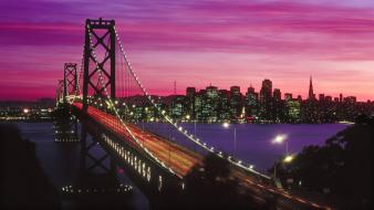 Bay bridge california san francisco sunset Wallpaper