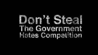 Black background funny government quotes text wallpaper