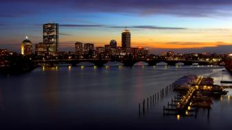 Boston cityscapes skylines wallpaper