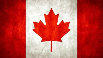 Canada canadian flag flags leaves maple leaf wallpaper