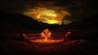 Desktopography fantasy art mage occultism wallpaper