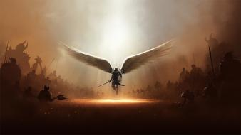 Diablo tyrael angels armor army wallpaper