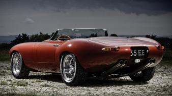 Eagle speedster jaguar etype roadster cars red wallpaper