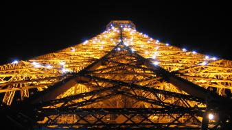 Eiffel tower paris illuminated lights Wallpaper
