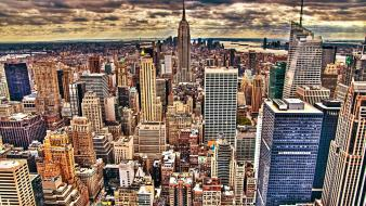 Empire state building new york city cityscapes skyline wallpaper