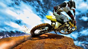 Hdr photography bike motocross offroad vehicles wallpaper