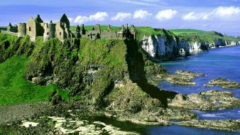 Ireland castle dunluce wallpaper