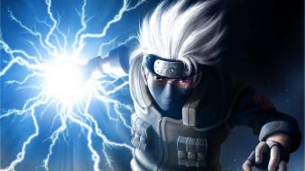 Kakashi hatake naruto shippuden sharingan animated lightning wallpaper