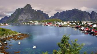Lofoten norway reine wallpaper
