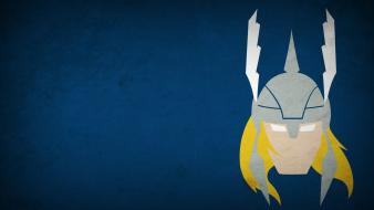 Marvel comics thor blo0p blue background minimalistic wallpaper