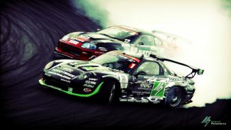 Mazda rx7 toyota supra drifting cars racing wallpaper