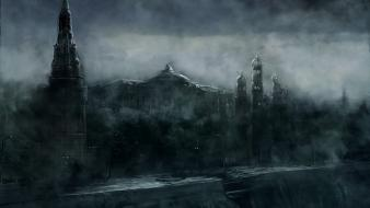 Metro 2033 fantasy art gray video games Wallpaper