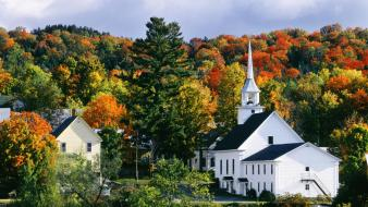 New england autumn vermont wallpaper