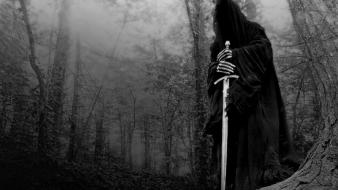 Of rings fantasy art monochrome nazgul ringwraith wallpaper