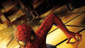 Spiderman buildings comics movies superheroes wallpaper
