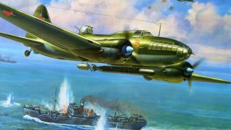 World war ii aircraft artwork bomber military wallpaper