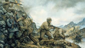 American battlefield german soldiers war wallpaper