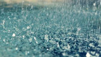 Blue rain raindrops water drops wallpaper