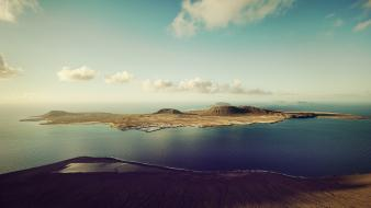 Canary islands la graciosa spain clouds wallpaper