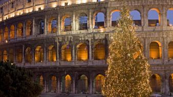 Christmas colosseum italy rome Wallpaper