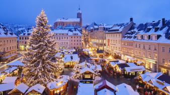 Christmas germany market wallpaper