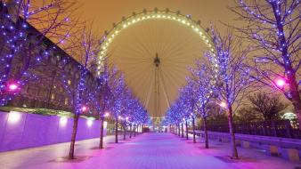 Christmas lights england london eye Wallpaper