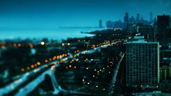 City lights cityscapes night wallpaper
