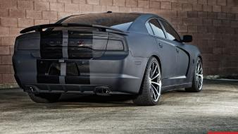 Dodge charger vossen back black matte wallpaper