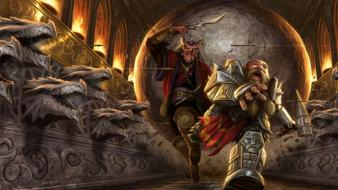 Dwarfs fantasy art warriors wallpaper