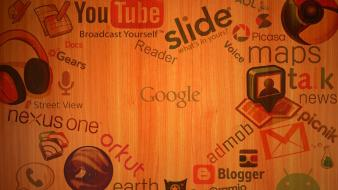 Google internet youtube brands logos wallpaper
