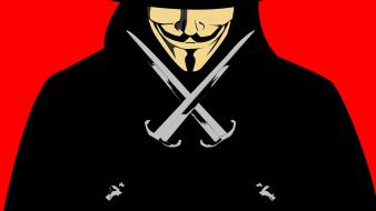 Guy fawkes v for vendetta artwork cartoonish daggers wallpaper
