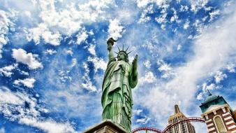 Hdr photography statue of liberty wallpaper