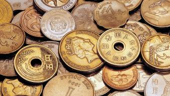 Hong kong japan taiwan coins money Wallpaper