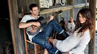 Kellan lutz couple guitars music wallpaper