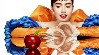 Lily collins mirror snow white apples movies wallpaper