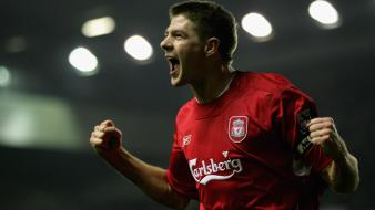 Liverpool fc steven gerrard soccer sports wallpaper