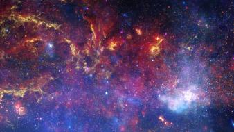 Microsoft windows 8 nebulae nighttime outer space Wallpaper