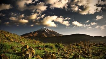 Mount kilimanjaro clouds landscapes mountains skylines wallpaper