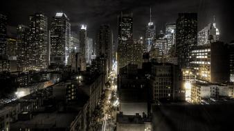 New york city usa lights cityscapes maps wallpaper