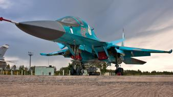 Russian air force su34 aircraft bomber military Wallpaper