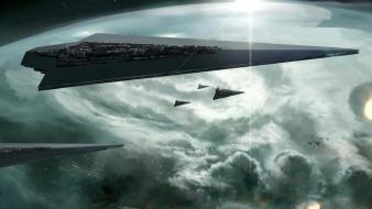 Star destroyer wars artwork outer space wallpaper
