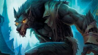 Wolfman world of warcraft wolves wallpaper