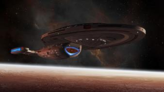 3d star trek voyager 1 outer space planets wallpaper