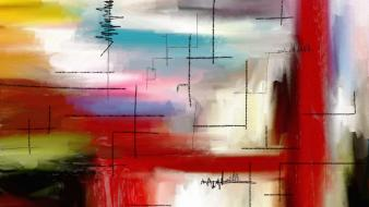 Abstract colors multicolor paintings watercolor wallpaper
