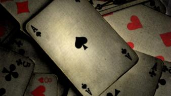 Ace of spades cards dark deck wallpaper