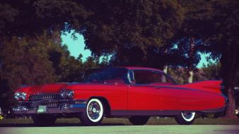 American cars cadillac eldorado red vintage wallpaper