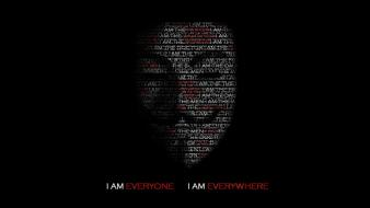 Anonymous v for vendetta minimalistic text typographic portrait wallpaper
